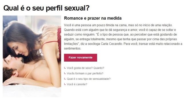 resultado teste qual é o seu perfil sexual